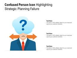 Confused Person Icon Highlighting Strategic Planning Failure