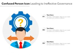 Confused Person Icon Leading To Ineffective Governance