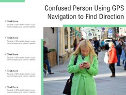 Confused Person Using GPS Navigation To Find Direction