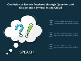 Confusion Of Speech Depicted Through Question And Exclamation Symbol Inside Cloud