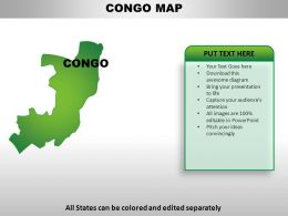 Congo Democratic Republic of the Country Powerpoint Maps