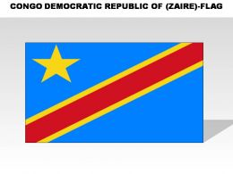 Congo Democratic Republic Zaire Country Powerpoint Flags