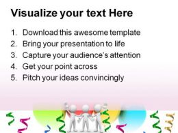 Congratulation And Celebration Metaphor PowerPoint Templates And PowerPoint Backgrounds 0211