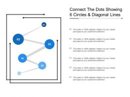 Connect The Dots Showing 6 Circles And Diagonal Lines