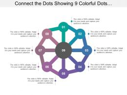 Connect The Dots Showing 9 Colorful Dots Connecting To A Circle