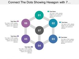 Connect The Dots Showing Hexagon With 7 Circles And Diagonal Lines