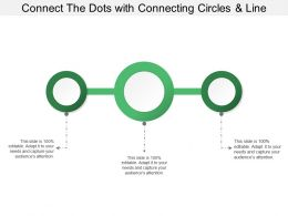 Connect The Dots With Connecting Circles And Line
