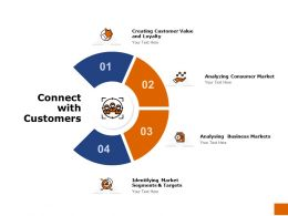 Connect With Customers Markets Ppt Powerpoint Presentation Portfolio Skills