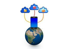 Connect With World By Cloud Stock Photo