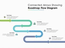 Connected Arrows Showing Roadmap Flow Diagram