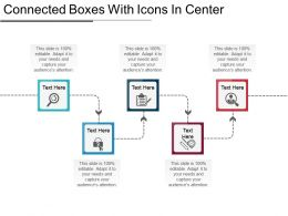 Connected Boxes With Icons In Center