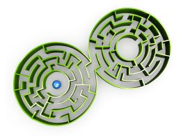 Connected Circular Maze Stock Photo