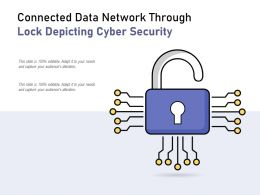Connected Data Network Through Lock Depicting Cyber Security