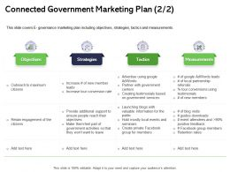 Connected Government Marketing Plan Guides Ppt Powerpoint Presentation Layouts Information