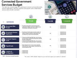 Connected Government Services Budget Easy Access Ppt Powerpoint Presentation Summary Demonstration