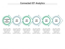 Connected IOT Analytics Ppt Powerpoint Presentation Model Microsoft Cpb