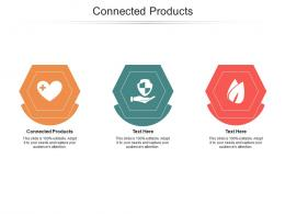 Connected Products Ppt Powerpoint Presentation Show Background Designs Cpb