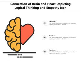 Connection Of Brain And Heart Depicting Logical Thinking And Empathy Icon