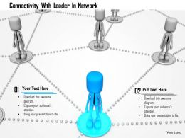 Connectivity With Leader In Network Ppt Graphics Icons