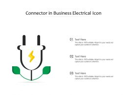 Connector In Business Electrical Icon