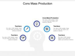 Cons Mass Production Ppt Powerpoint Presentation Gallery Show Cpb