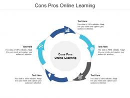 Cons Pros Online Learning Ppt Powerpoint Presentation Styles Introduction Cpb