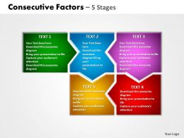 consecutive factors 5 stages powerpoint templates graphics slides 0712