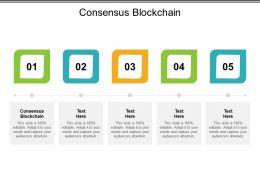 Consensus Blockchain Ppt Powerpoint Presentation File Graphics Tutorials Cpb