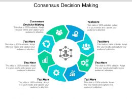 Consensus Decision Making Ppt Powerpoint Presentation Pictures Topics Cpb