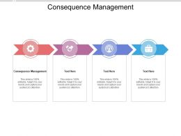 Consequence Management Ppt Powerpoint Presentation Icon Slides Cpb