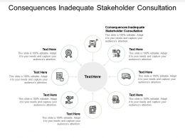 Consequences Inadequate Stakeholder Consultation Ppt Powerpoint Presentation Slides Cpb