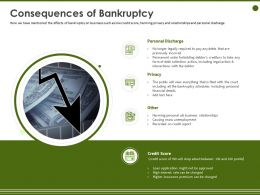 Consequences Of Bankruptcy Harming Personal Ppt Powerpoint Presentation Example
