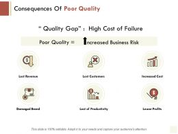 Consequences Of Poor Quality Productivity Revenue Ppt Powerpoint Presentation File Show