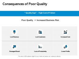 Consequences Of Poor Quality Revenue Cost Ppt Powerpoint Presentation Portfolio
