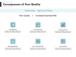 Consequences Of Poor Quality Revenue Ppt Powerpoint Presentation Outline Skills