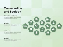 Conservation And Ecology Ppt Powerpoint Presentation Portfolio Background Designs