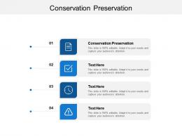 Conservation Preservation Ppt Powerpoint Presentation Infographic Template Backgrounds Cpb
