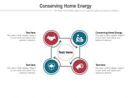Conserving Home Energy Ppt Powerpoint Presentation Icon Rules Cpb