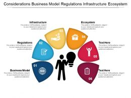Considerations Business Model Regulations Infrastructure Ecosystem