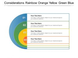 Considerations Rainbow Orange Yellow Green Blue