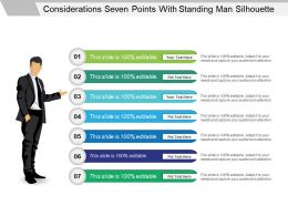 Considerations Seven Points With Standing Man Silhouette