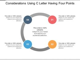 Considerations Using C Letter Having Four Points