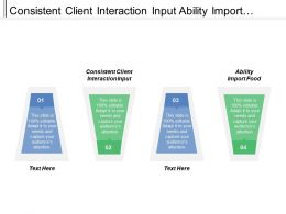 Consistent Client Interaction Input Ability Import Food Able Substitute