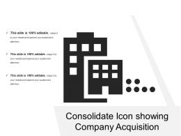Consolidate Icon Showing Company Acquisition