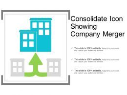 Consolidate Icon Showing Company Merger