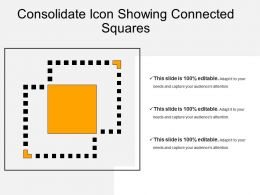 Consolidate Icon Showing Connected Squares