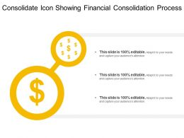 Consolidate Icon Showing Financial Consolidation Process