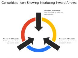 Consolidate Icon Showing Interfacing Inward Arrows
