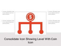 Consolidate Icon Showing Level With Coin Icon