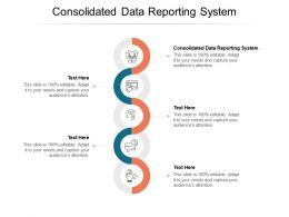 Consolidated Data Reporting System Ppt Powerpoint Presentation Infographics Cpb